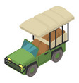 safari car icon isometric style vector image