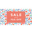 sale banner design vector image vector image
