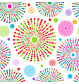 seamless pattern of colorful polka dots vector image vector image
