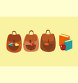 set cute bag vector image