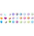 set minimalistic shapes halftone color spheres vector image