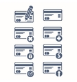 set of credit cards icons Flat icon One of set vector image