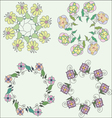 Set of cute hand drawn wreaths floral frames vector image