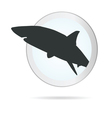 sign shark in circle vector image vector image