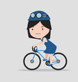 small girl with a bicycle vector image vector image