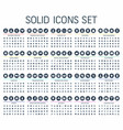 solid web icons flat vector image