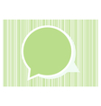 Speech green bubble for your text vector image