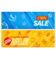 summertravel sale color banners set special offer vector image