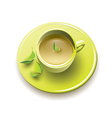 Tea in a yellow glass vector image vector image