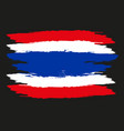 thailand flag official colors and proportion vector image