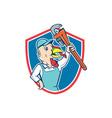 Turkey Plumber Monkey Wrench Shield Cartoon vector image vector image
