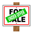 under offer vector image vector image