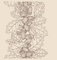 vertical abstract seamless pattern oak acorns