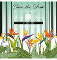 Wedding Card Tropical Flowers Background vector image vector image