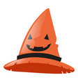witch hat on white background vector image