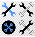 wrenches eps icon with contour version vector image