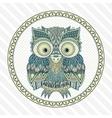 zentangle owl Ornate vector image vector image