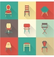 Chairs vector image