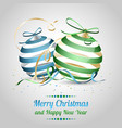 christmas and new year as a wish with blue and vector image