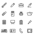 thin line icons - office vector image
