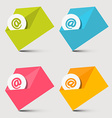 Envelope Email Icons Set vector image