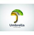 umbrella logo template vector image