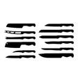 set of different knife samples vector image