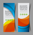 abstract banners set2 vector image vector image