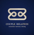 abstract couple relation symbol vector image vector image