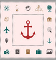 anchor icon symbol elements for your design vector image