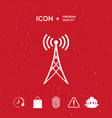 antenna icon vector image