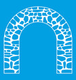 arch icon white vector image vector image