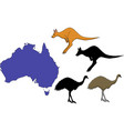 australia cartoon travel map vector image