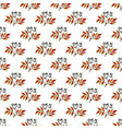 autumn seamless pattern with hand drawn black vector image vector image
