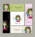 banners design floral fairy vector image vector image
