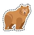 bear cartoon icon vector image