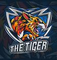 bengal tiger as an es-port logo vector image vector image