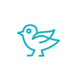 Bird line art logo icon sign design templ