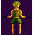 bizarre modernistic avatar cubism theme vector image vector image