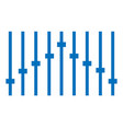 blue equalizer icon on white background equalizer vector image