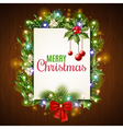 Christmas Holiday Frame vector image