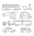 collection transport vehicle image outline vector image vector image