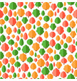 colorful seamless pattern of different trees vector image vector image