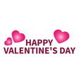 congratulations on valentine s day heart vector image vector image