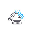 construction machinery linear icon concept vector image vector image