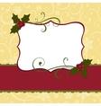 Cute christmas postcard template vector image vector image