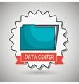 data center file folder vector image
