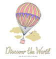 Discover the world vector image