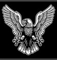 eagle black and white vector image vector image