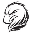 eagle head tattoo vintage engraving vector image vector image